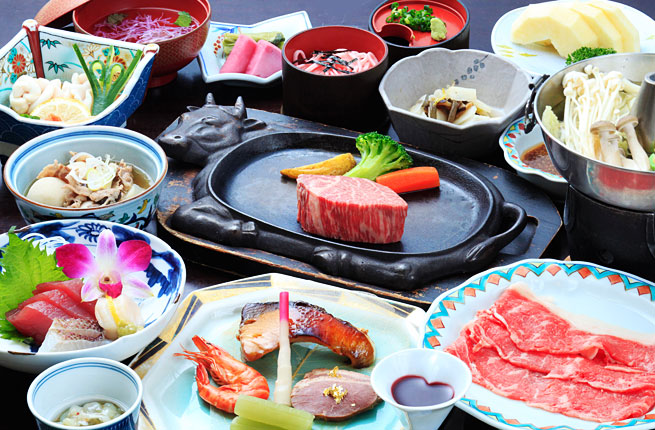 鉄板ステーキ付き和食膳